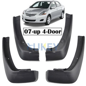Mud Flaps Fit For Toyota Yaris 4dr Sedan 2007 2013 Splash Guards Vios Belta Limo