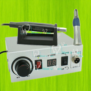 Dental Lab Electric Brushless Micromotor Handpiece Straight Nose Polish 50krpm