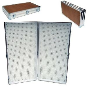 Pegboard Display Pegboard Rack Stand Portable Pegboard Case 48 X 48 High