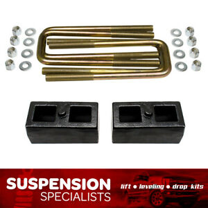 2001 2010 Chevy Silverado Gmc Sierra 2500 Hd 1 5 Rear Lift Block Kit W U Bolts