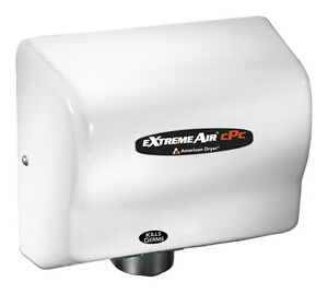 American Dryer Cpc9 m Extreme Air Hand Dryer Cold Plasma Kills Germs White