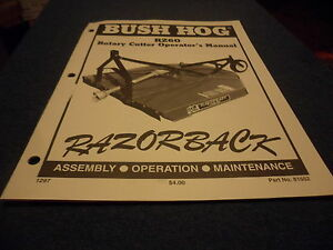 drawer 5 Bush Hog Rz60 Razorback Rotary Cutter Operators Manual Assem Maint
