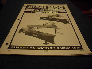 drawer 5 Bush Hog 120 175 Rear Mounted Blade Operators Manual Assem Maint