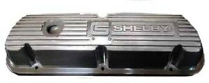 Shelby Engine Co 289 351 Finned Valve Cover Pair Polished Finish