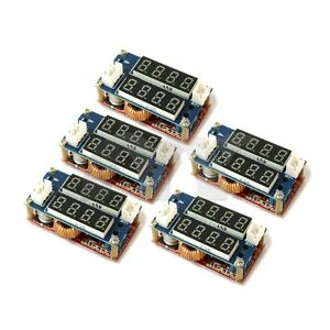 5 Pcs 5a Constant Current voltage Led Driver Charging Module Voltmeter Ammeter