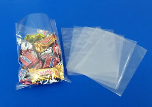 100 200 1000 Clear Cello Bags Poly Wrapper Cellophane Polypropylene Food Baggies