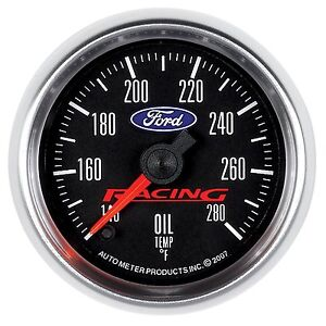 Ford Racing Autometer 2 1 16 52mm 140 280 Degrees Oil Temperture Gauge 880079