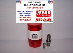 LEE 90053 * LEE PRECISION BULLET SIZING DIE KIT * .427 DIAMETER * 90053