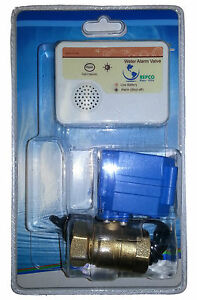 Water Alarm With 3 4 Motorized Ball Valve