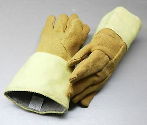 Gloves High Temperature Protection Heat Resistant Glove Pbi 14 Pair Rated 1400f