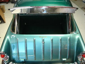 1955 1956 1957 Chevy Nomad Liftgate Anti Rattle Polished Ss Madmooks New