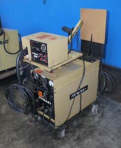 200 Amps Hobart Rc256 Mig Welder W Wire Feed Portable Cart And Leads