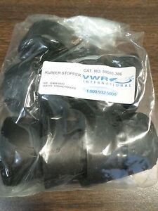 Vwr Size 10 Solid Black Rubber Stoppers 1 Lb Package Of 9