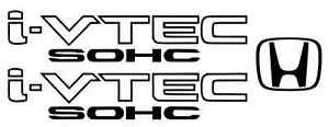 Sohc Honda I Vtech Decal Stickers Set Of 3 Civic Accord Prelude Crx Si Spoon