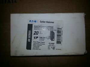 Cutler Hammer Ground Fault Classified Breaker Single Pole 20amp Eaton Cl120gf