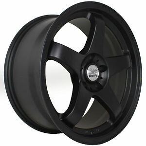18 18x8 5 18x9 5 Ns Nsm01 15 Flat Black Staggered Rims Wheels Concave 5x114 3