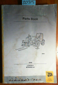 Jcb 5508 Loadall Parts Manual M780925 On 9800 7942 Issue 3