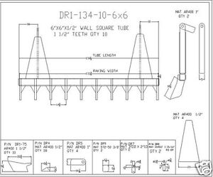 dozer blade root rake 134quot; wide 1675 lbs AR400 steel NEW USA Attachments $4368.00
