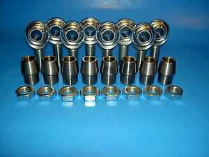 Economy 4 Link Rod Ends Kit 3 4 X 3 4 16 Heim Joints Fits 1 1 4 X 095 Tubing