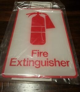 Fire Extinguisher Sign 9 X 6 Davsigns Davson Acrylic Exterior Grade Box Of 12