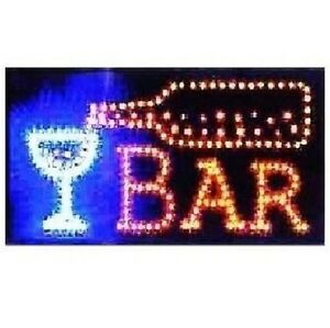 Animated Motion Led Restaurant Cafe Bar Club Sign on off Switch Open Light Neon