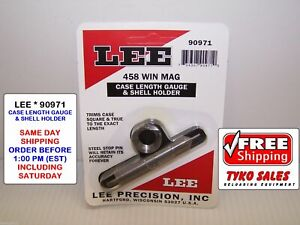 90971 * LEE CASE LENGTH GAUGE & #5 SHELL HOLDER * 458 WINCHESTER MAGNUM * NEW!