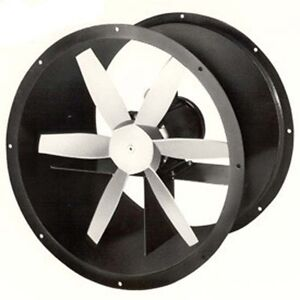 12 Explosion Proof Tube Axial Exhaust Fan 4 Blades 3450 Rpm 1875 Cfm 230v