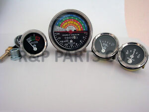Tachometer Oil Temp Amp Gauge Set For International Farmall Ih 340 Utility Gas