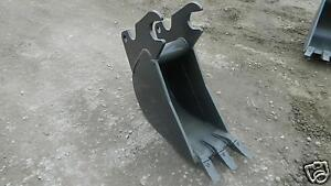 Kubota U45 Excavator Bucket 12 Quick Attach Aftermarket Bucket