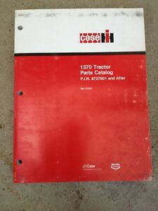 Case Ih 1370 Tractor Parts Catalog Pin 8727601 And After Rac D1253