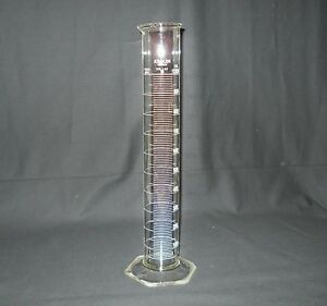 Kimble Kimax Class B 1000ml 1l Glass Single Graduated Cylinder 20024 Chipped
