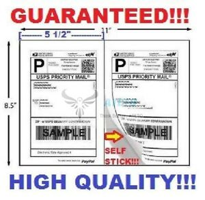 Premium Self Adhesive Paypal Mailing Shipping Labels 8 5x5 5 Usps Ups Fedex