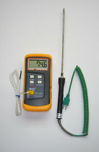 Digital K type Thermocouple Thermometer 8 Stainless Steel Insertion Probe Tc4