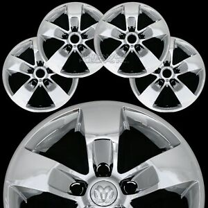 4 Fits Dodge Ram 1500 Truck 17 Chrome Wheel Skins Hub Caps 5 Spoke Rim Covers