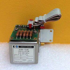 Hp 5086 7246 2 0 To 3 8 Ghz Yig Oscillator 5061 1054 Cable Assy Tested