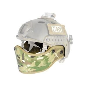 Lancer Tactical CA-801C Airsoft FAST Helmet Lower Face Armour Protection Camo