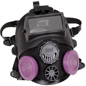 North 7600 Series Full Facepiece Respirator With Welding Attachment Med lg New