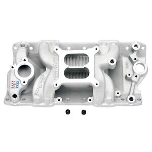 Edelbrock 7501 Performer Rpm Air Gap Intake Manifold 1955 86 Small Block Chevy