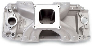 Edelbrock 2902 Victor Jr 454 r Intake Manifold Bbc Rectangle Port 4150 Carb