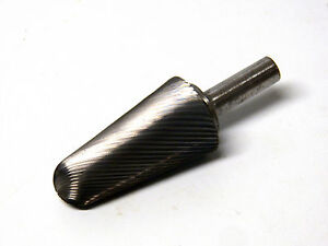 Carbide Rotary Burr File Single Cut Bell tree Shaped American Made