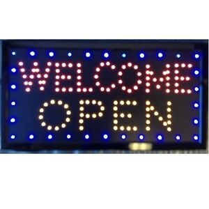 Animated Motion Led Business Open Welcome Open Sign on off Switch Bright Light