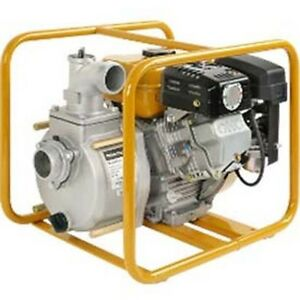 Commercial Trash Pump 2 Suction Discharge Port 153 Gpm 43 Psi 4 1 2 Hp