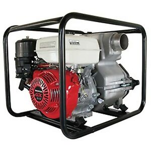 Commercial Trash Pump 4 Intake Outlet 11 Hp Honda Engine 506 Gpm