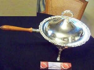 Fancy Gorham Silver Grape Vine Floral Chafing Dish Serving Tray Set Superb Older