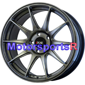 Xxr 527 Wheels 18 S Chromium Black Concave Rims 5x4 5 06 14 15 Honda Civic Si Ex