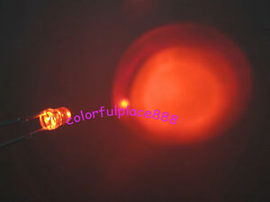1000pcs 3mm Orange Self Flash Flashing Blink Water Clear Bright Led Leds New