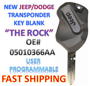 New 1998 2006 Dodge Jeep Transponder Ignition Chip Key Usa Seller The Rock