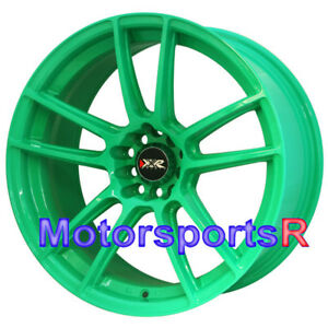 Xxr 969 R Green 18 Staggered Rims Wheels Concave 5x4 5 98 99 04 Ford Mustang Gt