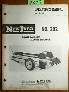 New Idea 202 Power Take off Pto Manure Spreader Owner Operator Parts Manual 61