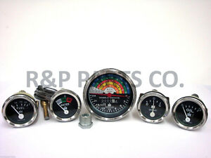 Tachometer Oil Fuel Temp Amp Gauge Package Set For International Ih Farmall 340
